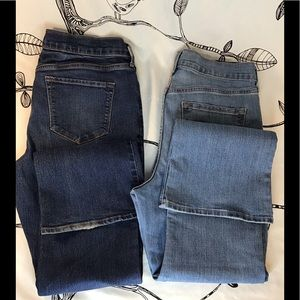 Lot of 2 pair old navy denim jeans size 10 short